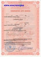 Получить повторное свидетельство о браке в Украине.